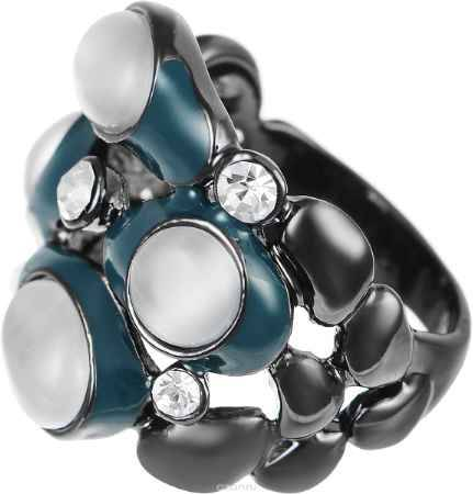 Купить Кольцо Art-Silver, цвет: антрацитовый, серый, темно-бирюзовый. 066762-904-586. Размер 18,5
