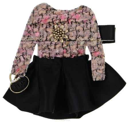 Купить Брошь Happy Charms Family, цвет: черный, розовый, золотой. NOAK0353