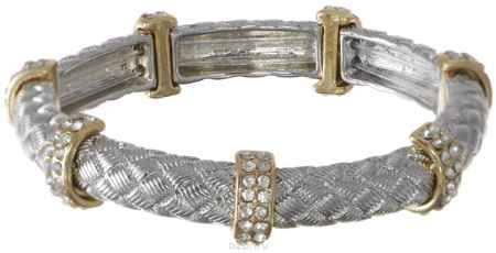 Купить Браслет Taya, цвет: серебристый, золотистый. T-B-3682