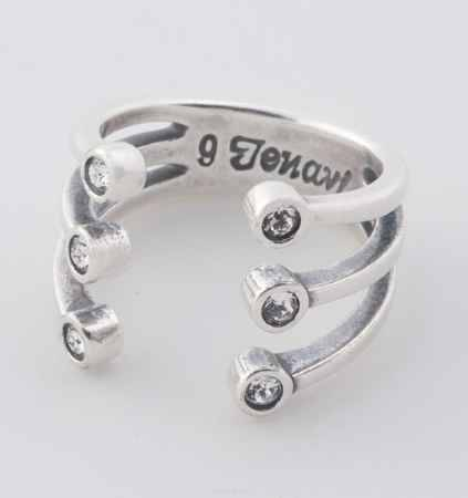 Купить Jenavi, Коллекция Триада, Тринити (Кольцо), цвет - серебро, черный, размер - 20