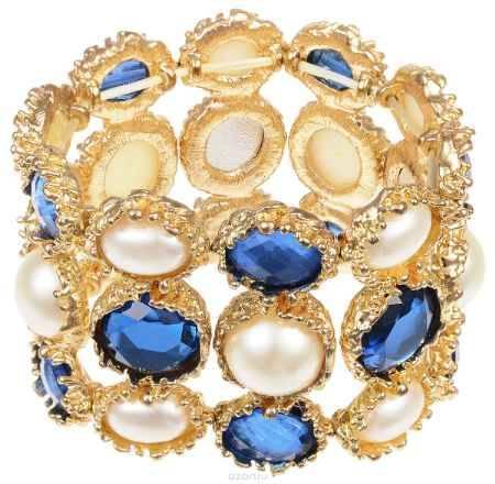 Купить Браслет Fashion House, цвет: золотой, белый, синий. FH29984