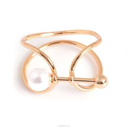 Купить Кольцо жен. Selena Street Fashion, цвет: белый, золотистый. 60025327. Размер 17