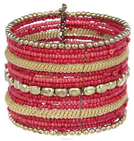 Купить Браслет Ethnica, цвет: красный, золотой. 239080