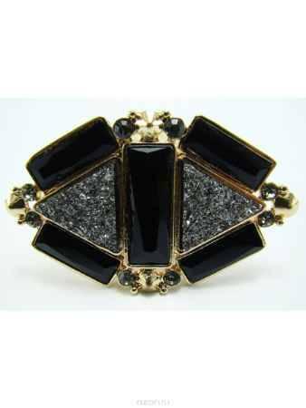 Купить Кольцо Taya, цвет: золотистый, черный. T-B-8149
