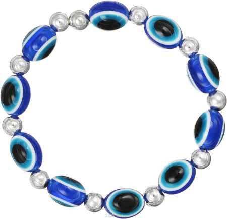 Купить Браслет Happy Charms Family, цвет: синий, белый, голубой, черный, серебристый. NOAT0040