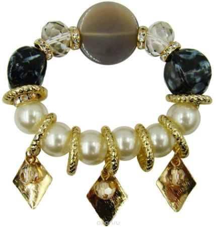 Купить Браслет Taya, цвет: белый, серый, золотой. T-B-9975
