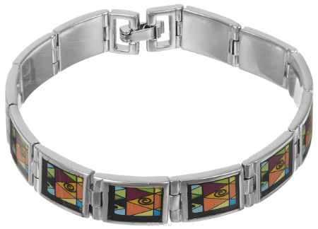 Купить Браслет Art-Silver, цвет: серебряный, черный, оранжевый. ФБ370-490