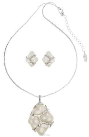 Купить Комплект Art-Silver: колье, серьги, цвет: серебряный, белый. V063092-001-2147
