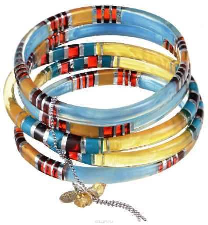 Купить Браслет Lalo Treasures ROW, цвет: голубой, коричневый. Bn2505