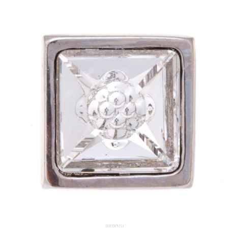 Купить Накладка на кольцо-основу Jenavi Коллекция Ротор Вис, цвет: серебряный, белый. k195fr00. Размер 1,7/1,7