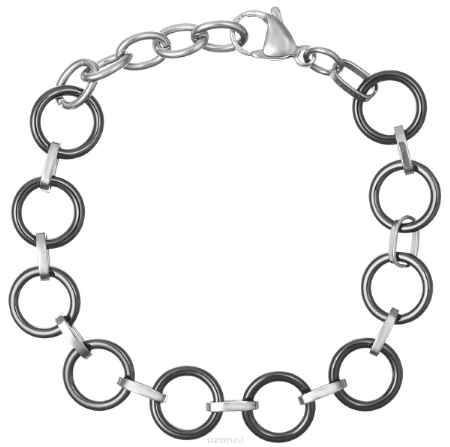 Купить Браслет Art-Silver, цвет: серебряный, черный. КЧ4055-674