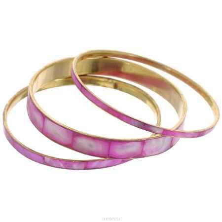 Купить Набор браслетов Ethnica, цвет: розово-фиолетовый, 3 шт. 097040