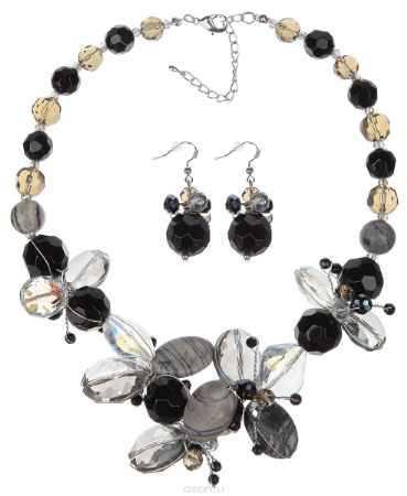 Купить Комплект украшений Avgad: колье, серьги, цвет: черный, серый. WST4642GLMUL. Авторская работа