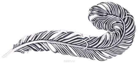 Купить Jenavi, Коллекция Feather, Гис (Брошь), цвет - серебро