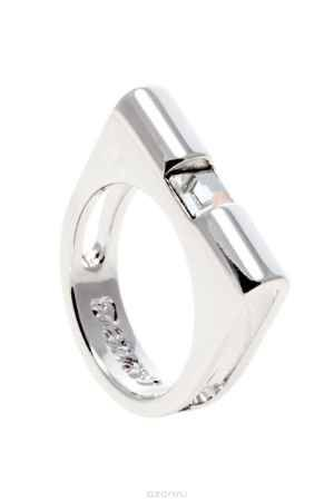 Купить Кольцо Jenavi Коллекция Quadro Гарник, цвет: серебряный, белый. r839f000. Размер 19