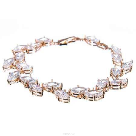 Купить Браслет жен. Selena Diamond, цвет: белый, золотистый. 40054320
