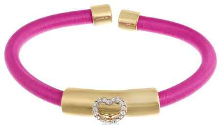 Купить Браслет женский Mitya Veselkov, цвет: розовый золотой. BRAS2-HEARTPINK