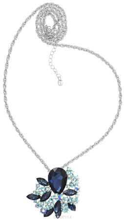 Купить Кулон-брошь Taya, цвет: серебристый, синий, голубой. T-B-10927
