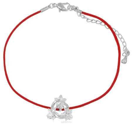 Купить Браслет Fashion House, цвет: красный, белый, серебряный. FH33043