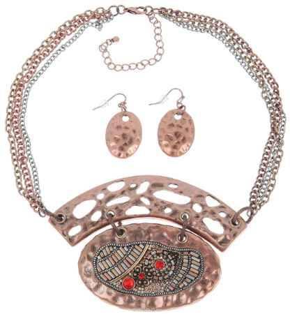 Купить Комплект украшений Avgad: колье, серьги, цвет: бронзовый. H-477S927