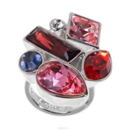 Купить Кольцо Jenavi Коллекция Виктуар SW Элюар, цвет: серебряный, красный. r597f016. Размер 19