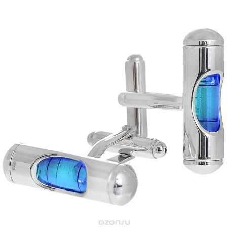 Купить Запонки Цилиндр синий. ZAP-075