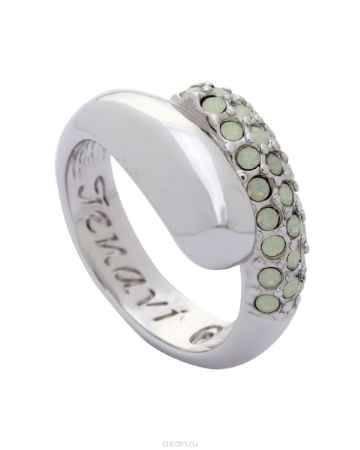Купить Кольцо Jenavi Коллекция Озон Литела, цвет: серебряный, белый. j947f003. Размер 17