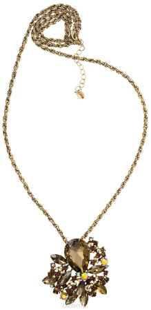 Купить Кулон-брошь Taya, цвет: золотистый, коричневый. T-B-10925