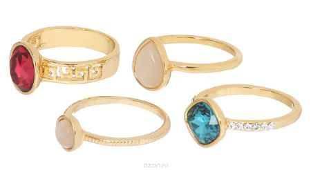 Купить Кольцо Art-Silver, цвет: золотистый, 4 шт. 066668-702-1143. Размер 16,5