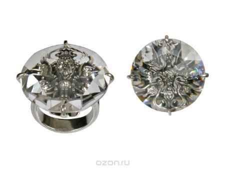 Купить Кольцо Jenavi Коллекция Подиум Изыск, цвет: серебряный, белый. h1983000. Размер 17