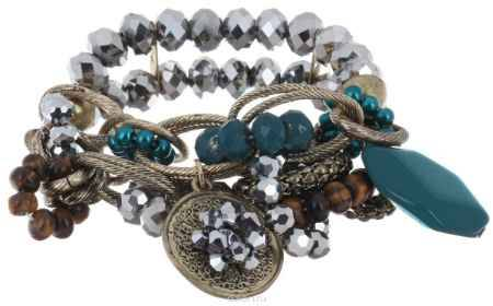 Купить Браслет Avgad, цвет: бронзовый, серебристый, бирюзовый. BR77KL167