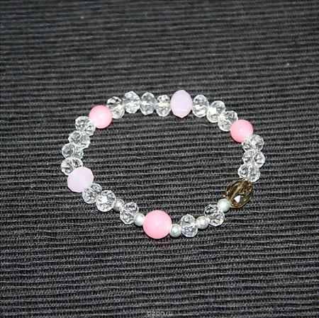 Купить Браслет Fashion House, цвет: розовый, прозрачный. FH30057-1