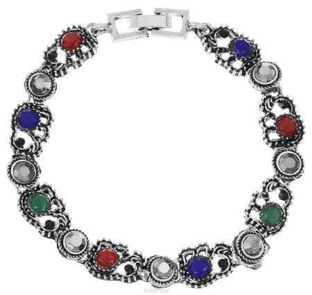 Купить Браслет Fashion House, цвет: черненое серебро, мультицвет. FH33035