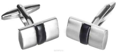 Купить Запонки Mitya Veselkov, цвет: серебряный, черный. ZAP-234