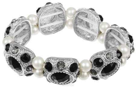Купить Браслет Fashion House, цвет: серебряный, белый, черный. FH28288