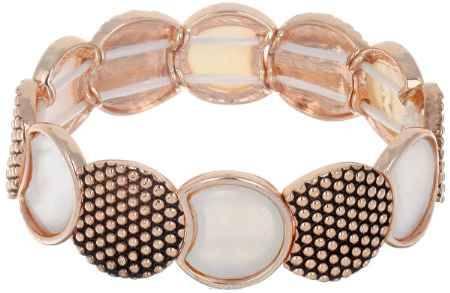 Купить Браслет Taya, цвет: золотистый, белый. T-B-6366