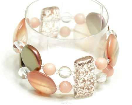 Купить Браслет Bohemia Style, цвет: розовый, прозрачный. 165 5026 00