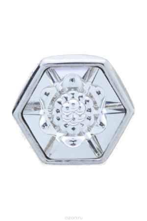 Купить Накладка на кольцо-основу Jenavi Коллекция Ротор Вида, цвет: серебряный, белый. k184fr00. Размер 1,5