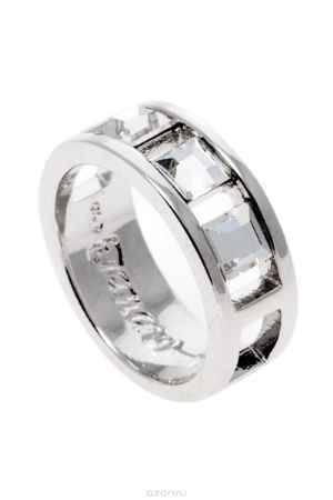 Купить Кольцо Jenavi Коллекция Quadro Салокс, цвет: серебряный, белый. r835f000. Размер 16