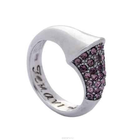 Купить Кольцо Jenavi Коллекция Озон Танака, цвет: серебряный, розовый. j950f010. Размер 16