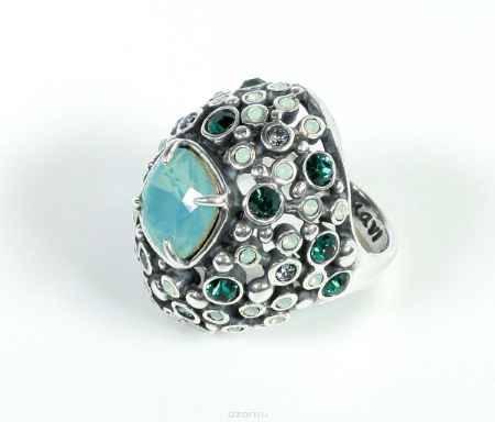 Купить Кольцо Jenavi Коллекция Террацио Нураг, цвет: серебряный, белый. r4813003. Размер 17