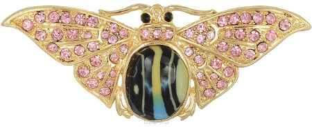 Купить Брошь Happy Garnets, цвет: золотой, розовый, черный. NOAU0166