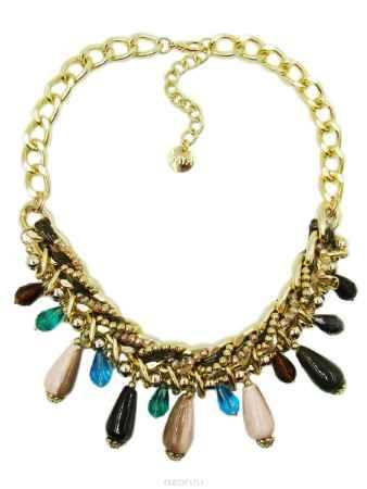 Купить Колье Taya, цвет: золотой, темно-зеленый, коричневый. T-B-9578