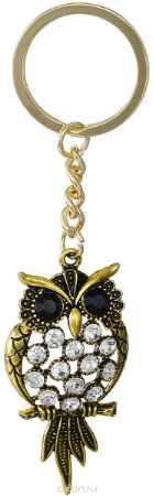 Купить Брелок женский Mitya Veselkov, цвет: золотой, серебряный. BRELOK-SOVA-BLWH