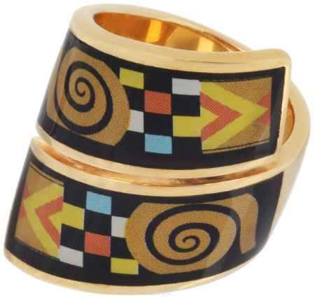 Купить Кольцо Art-Silver, цвет: золотистый, черный, мультиколор. ФК128-320. Размер 17