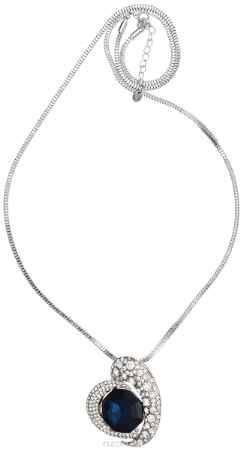 Купить Кулон-брошь Taya, цвет: серебристый, синий. T-B-10928