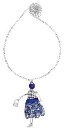 Купить Кулон Happy Charms Family, цвет: серебряный, синий. NODL0017