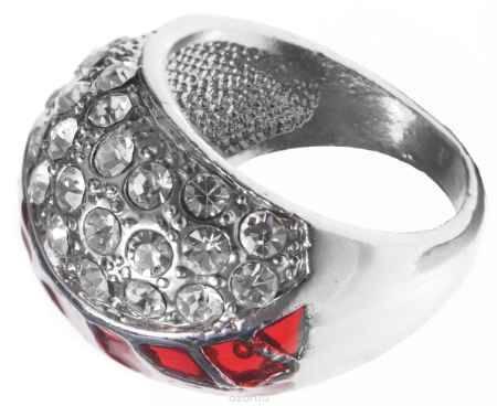 Купить Кольцо Taya, цвет: красный, серебряный. Размер 19. T-B-8689