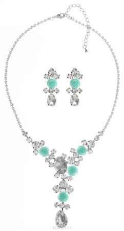 Купить Комплект Art-Silver: колье, серьги, цвет: серебряный. 91101307653601-1377