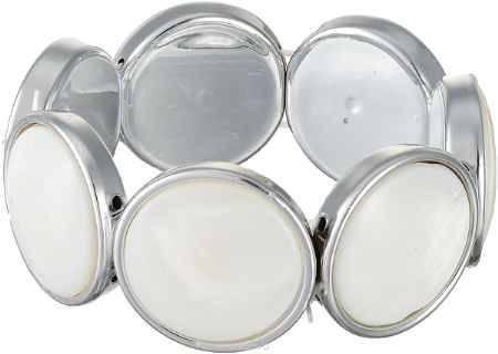 Купить Браслет Migura, цвет: серебряный, белый. SU0891